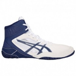 Asics Wrestling Mat Shoes ASICS® Mat Control - Men's - Wrestling - Shoes - White/Indigo Blue White/Indigo Blue | Width - D - Me