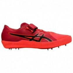 Asics High Jump Spikes Right Foot Take Off ASICS® High Jump Pro 2 - Men's Red | Left Foot Take Off