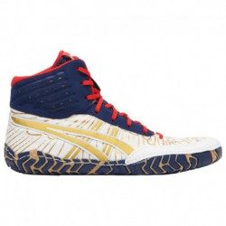Asics Aggressor Navy White Red ASICS® Aggressor 4 - Men's Rich Gold/Navy/White